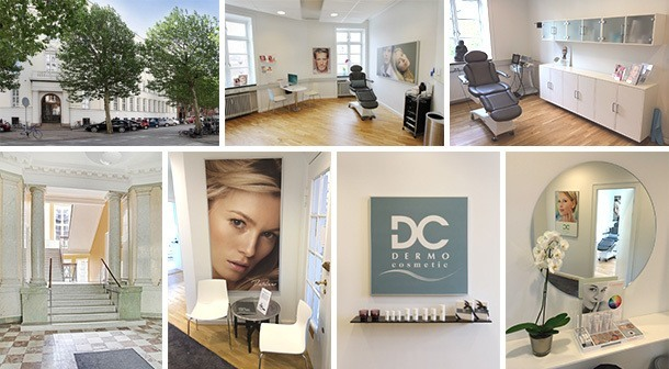 DermoCosmetik klinikken i København, komposition af 7 billeder