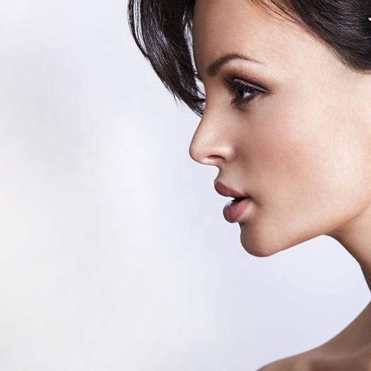 Kvindeansigt i profil