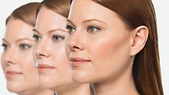 Hageparti af kvinde i 3 stadier