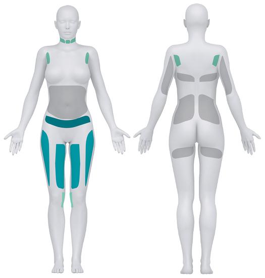 Fuld-krops silhuetter med markeringer