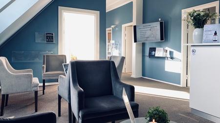 Receptionsområde i klinik
